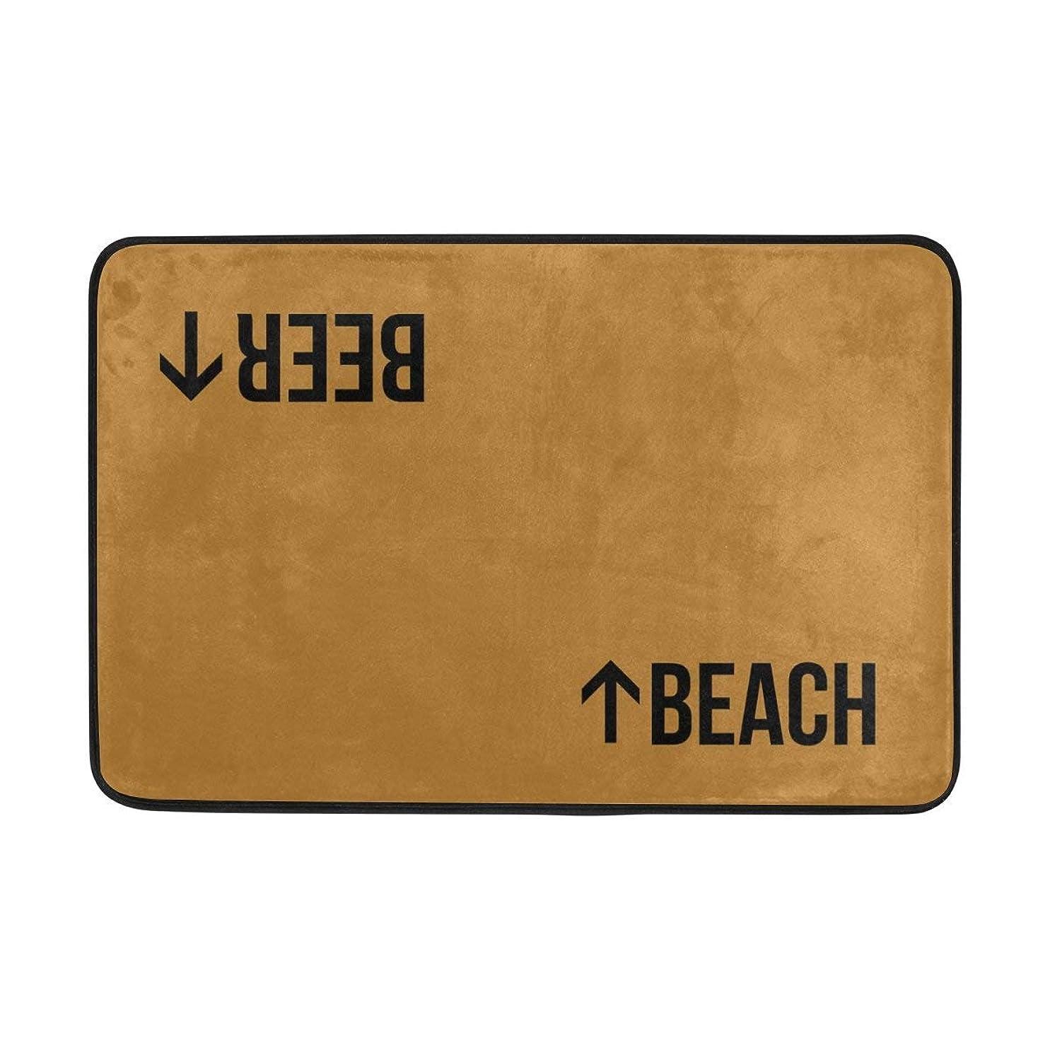 クリップ蝶ハイライト地平線玄関ドアマットビーチビール屋内/屋外の装飾ラグドアマット40×60センチインチ滑り止めの家の装飾