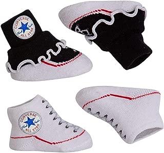 Baby Boys Converse Grey Logo Bib And Soft Knit Bootie Set 0//6 Months BNWTS