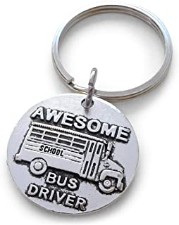 Awesome Bus Driver Appreciation Gift Keychain, School Bus Driver Gift