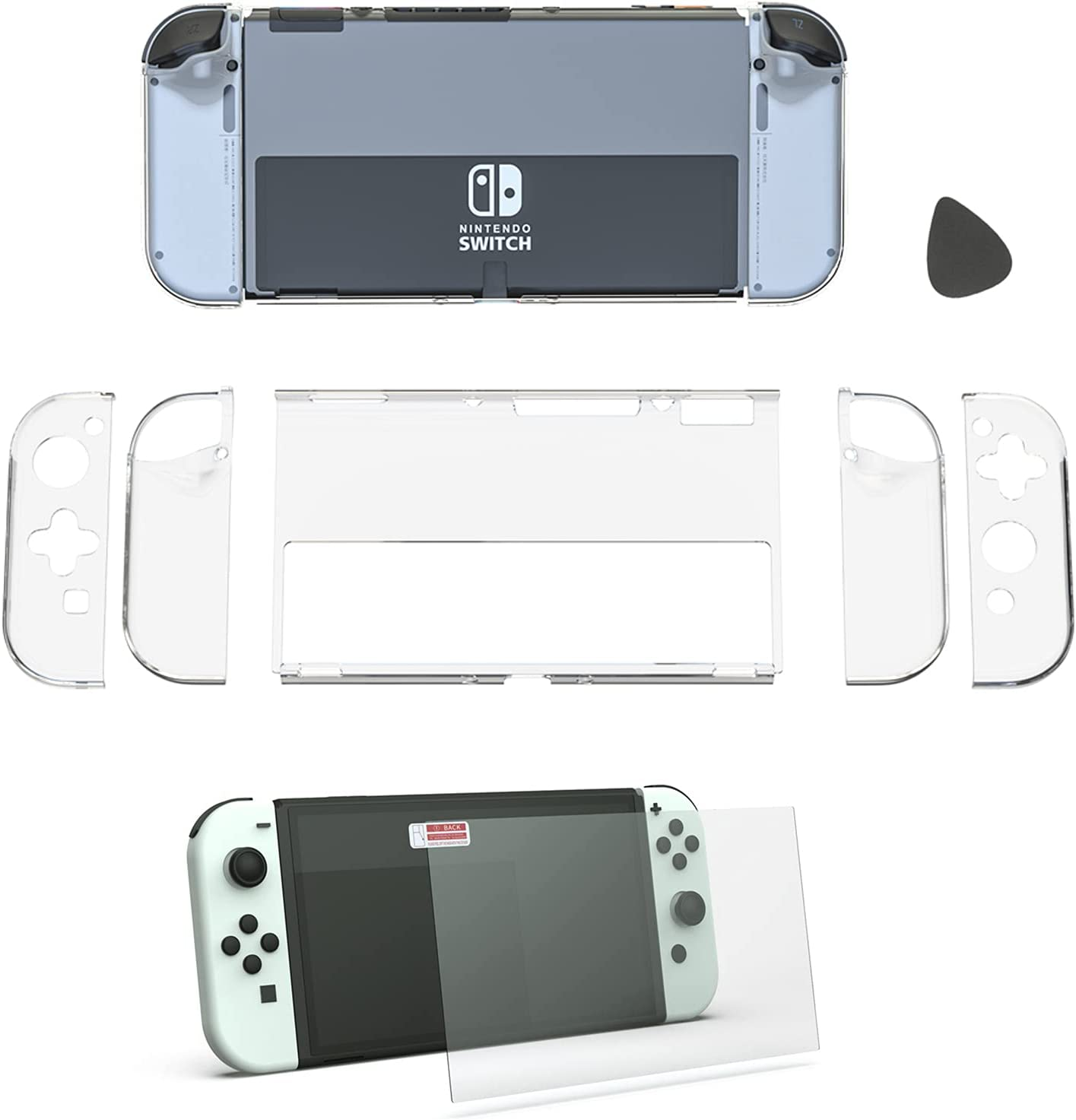 Switch OLED Protective Case G Image Product Bargain sale Tempered 5 ☆ popular
