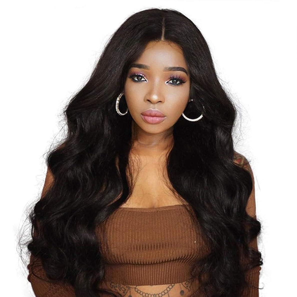 補償メロディーセラフSummerys 黒人女性のための長い波状の合成かつらカーリー合成かつら
