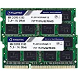 Timetec Hynix IC 16GB KIT(2x8GB) DDR3 1333MHz PC3-10600 Non-ECC Unbuffered 1.5V CL9 2Rx8 Dual Rank 204 Pin SODIMM Laptop Notebook Computer Memory Ram Module Upgrade(16GB KIT(2x8GB))