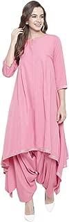 Fabnest Pink Asymmetrical Salwar kurta set for Women Latest Design