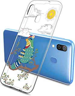 Oihxse Funda Dibujos Animal Lindo Compatible Samsung Galaxy Elefante 2 Plus 2018 Carcasa Transparente Clear Silicona TPU G...