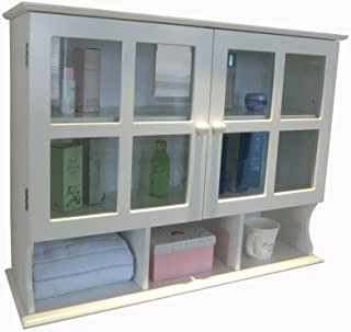 Homecharm 31.5x9.6x24-Inch Wall Cabinet,White (HC-032)