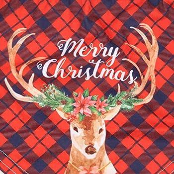 Bandana de Noël pour chiot - Écharpe triangulaire de Père Noël lavable - Pour chiot de petit, moyen et grand animal (rouge)