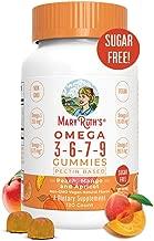 Organic Vegan Vitamin Omega 3-6-7-9 Gummies Supplement (Plant Based) by MaryRuth Chewable, Non-GMO, Gluten Free for Men, Women & Kids, NO Fish, NO Krill, Sugar Free (120 Count)