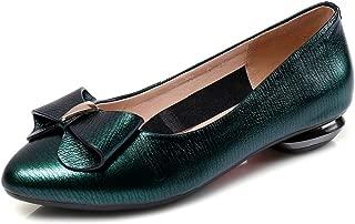 Nine Seven Women's Leather PointToe Flats 3 Colors