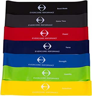 Evercore: Mini Bands - Top Tier Resistance Bands - 7 Levels of Resistance Bands - Improve Leg and Glute Development, Reduce Knee Pain, Rehab After Injury