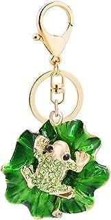 Grtdrm Cute Frog Shape Crystal Rhinestone Sparkling Keychain Bag Pendant Handbag Charm for Women Girls