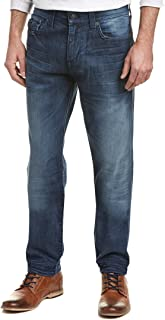 True Religion Men's Geno Relaxed Slim Fit Jean with Flap