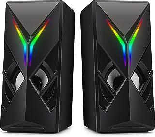 LENRUE Computer Speakers for Desktop Laptop PC