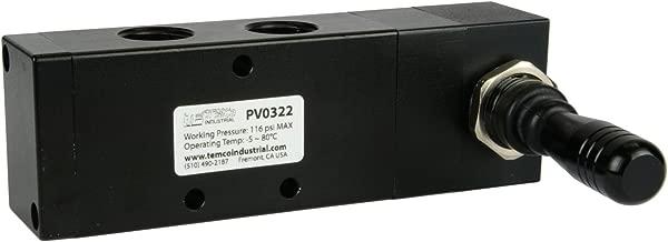 Spring Return Lever Pneumatic Air Control Valve 5 Port 4 Way 3 Position 1/2