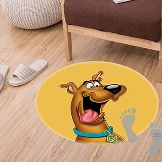 Modern Flannel Microfiber Non-Slip Machine Washable Round Area Rug Living Room Bedroom Study Soft Carpet Floor Mat Home Decor 60CM Feet Diameter,Scooby doo Airbrush Pose 15 Luggage tag
