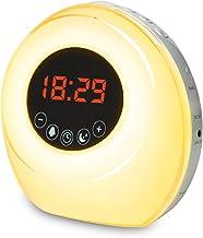 Sunrise Alarm Clock for Bedroom, Smart Wake Up Light with Sleep Aid Feature & 6 Colored Sunrise Simulation, Digital Alarm ...