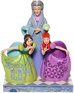 Disney Traditions 6007056 Lady Tremaine Anastasia & Drizella Figurine
