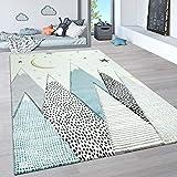 Paco Home Kinderteppich, Kinderzimmer Pastell Teppich mit 3D Wolken u. Stern Motiven, Grösse:120x170 cm, Farbe:Creme