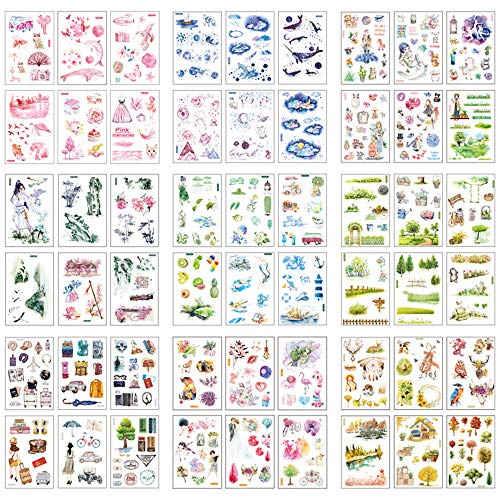 Shuxy Decorative Sticker Calendar Sticker Book Sticker Diary Photo Album Decoration Stickers for Scrapbooking Notebook Decals for DIY Personalize Bullet Laptops Luggage Cars Books Sealing, 11 Styles