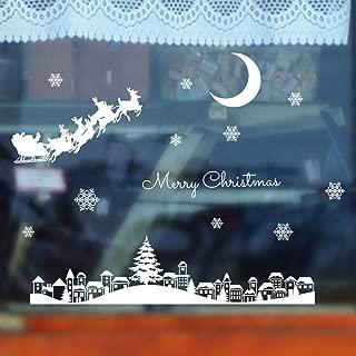 Snowflake Window Stickers, Christmas Restaurant Mall Decoration Snow Glass Window Removable Stickers,35x50cm