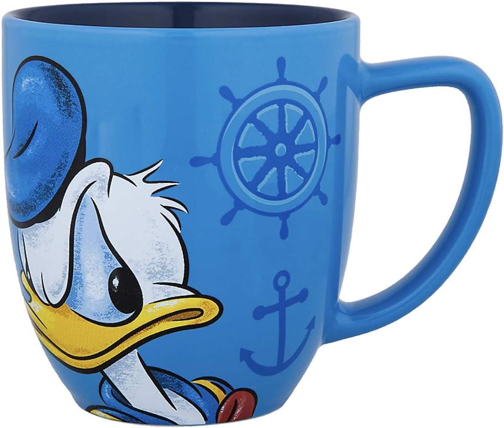 Details about  /Disney Parks Donald Duck Face Large Ceramic Mug  NEW
