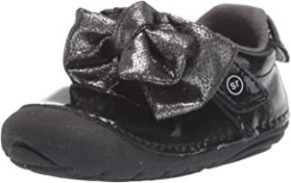 Stride Rite Girls' SM Esme Mary Jane Flat, black, 3 W US Infant