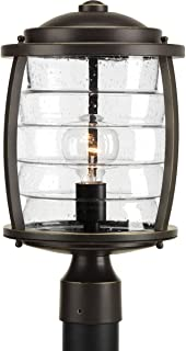 Progress Lighting P5421-108 Traditional/Casual 1-100W Med Post Lantern, Oil Rubbed Bronze