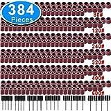 SIQUK 384 Stück Schleifhülse Satz Einschließlich 360 Stück teilig Schleifen Bands and 24 Stück...