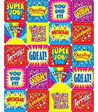 good job stickers for kids - Carson Dellosa Inspirational Stickers—6 Sheets of Colorful Motivational Stickers for Homework, Tests, Assignments, Reward Stickers for Classroom or Homeschool (120 pc)