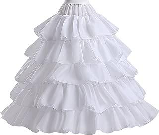 Make you perfect Hoop Skirt Petticoat Skirt for Women Ball Gown Slip Crinoline Underskirt 5 Ruffles 4 Hoop¡