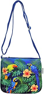 Tropical Jungle Macaw Parrot Small Womens Cross Body Bag