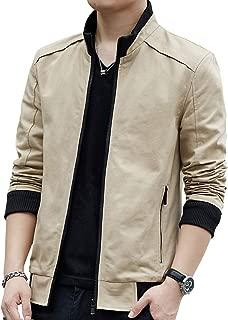 Mens Casual Windbreaker Outerwear Cotton Lightweight Jackets