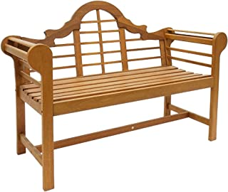 Achla Designs OFB-01 Lutyens Indoor/Outdoor Garden Bench, Natural, 4 ft