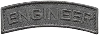 2AFTER1 Engineer Shoulder Tab Badge Wolf Gray US Army Grey Tactical Morale Touch Fastener Patch