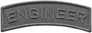 LEGEEON Engineer Shoulder Tab Badge Wolf Gray US Army Grey Tactical Morale Touch Fastener Patch