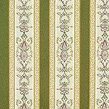 Fabulous Fabrics Jacquard Oliv, Streifen, 140cm breit –
