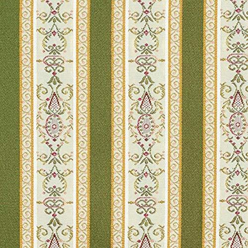 Fabulous Fabrics Jacquard Oliv, Streifen, 140cm breit – Jacquard zum Nähen von Kissen, Stühlen und Stuhlauflagen – Meterware erhältlich ab 0,5 m