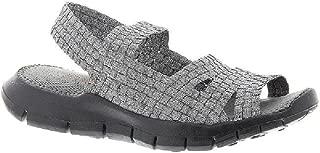 Women's Cindy Woven Slingback Open Toe Summer Flat Sandal