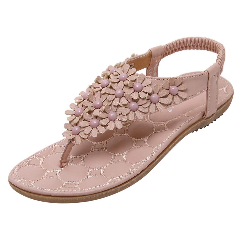 Lovelychica Women Rhinestone Flat Sandals Glitter Shoe Bohemian Summer Beach T-Strap Flip-Flops Thong Sandals
