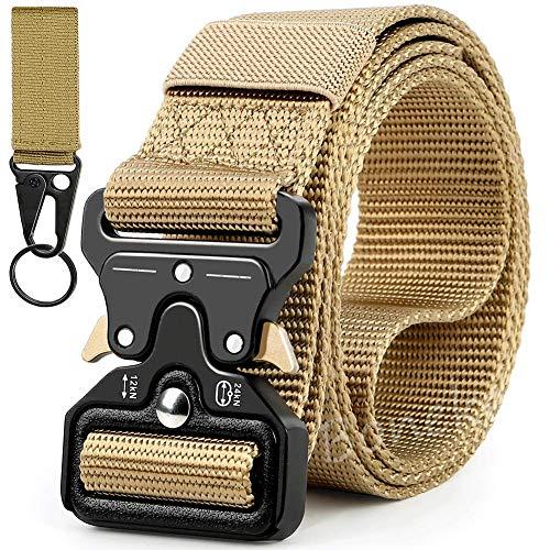 Boneke Cinturón Táctico Militar, Cinturón de Nailon Táctico Resistente con Correa de Metal de Liberación Rápida Para EDC de alta resistencia para el entrenamiento