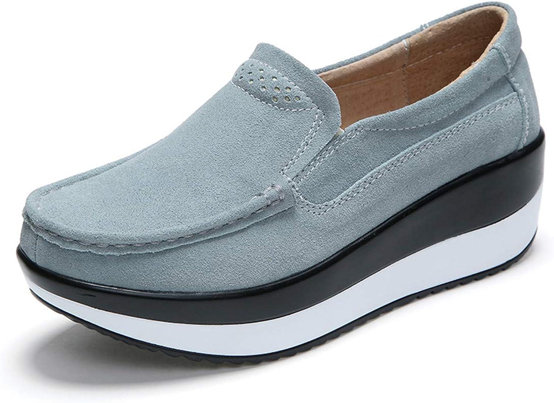 Julitia 2019 Spring Women Flats shoes Platform Slip On Flat Moccasins Loafers 4 M US