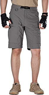 Men's Cargo Shorts Breathable Lightweight Quick Dry Hiking Tactical Shorts Nylon Spandex