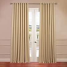 HPD HALF PRICE DRAPES BOCH-131009-84-GRDW Grommet Extra Wide Blackout Room Darkening Curtain, 100 x 84, Biscotti