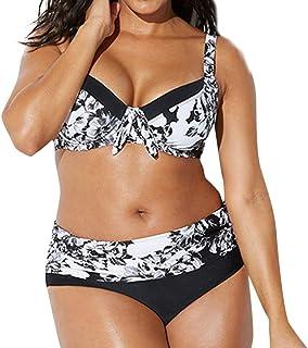 Conjunto De Bikini Bralette Push Up 2 Piezas Set Traje de Baño 2019 Verano Mujeres Tallas Grandes Vendaje de Impresión Sujetador Acolchado Bikini Dividir Bañador de Cuerpo Ropa de Playa