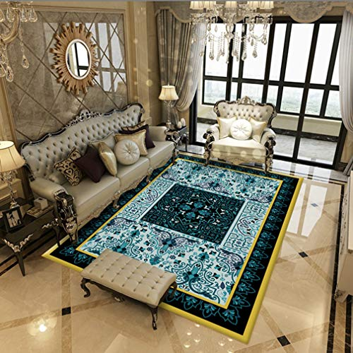 MOXIC Soft Isfahan Living Room Area Rugs Rectangular Collection Traditional Bedroom Rug Fleece Anti-Slip Carpets Classic Floral Home Decor Mats Indoor Outdoor Runners Nursery 6.5' X 8'