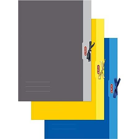 Herlitz 448209 Carton à dessins A2 Chromoduplex 500 g/m² (Disponible en jaune/gris/bleu) (Import Allemagne)