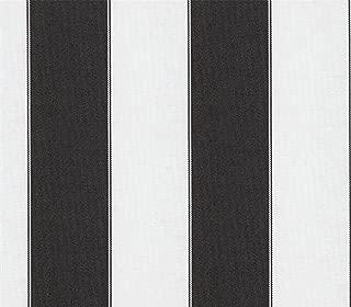 Indoor/Outdoor Waterproof Fabric Bordered Deck Stripe Black White / 60