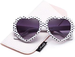 aa2392f569 Kids Heart Sunglasses Girls Heart Shaped Sunglasses Cute Polka Dots Vintage