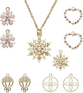 Necklace and Earrings Set for Women 6 Pairs Fashion...