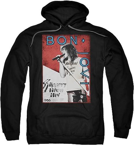 Générique Bon Jovi - - Sweat à Capuche 86 Tour pour Homme