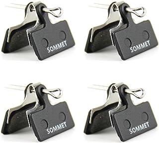 4 Pares SOMMET Pastillas Freno Disco Semi-metálico para Shimano Deore M615 / SLX M666 M675 / XT M785 / XTR M960 M985 M988 / Alfine S700